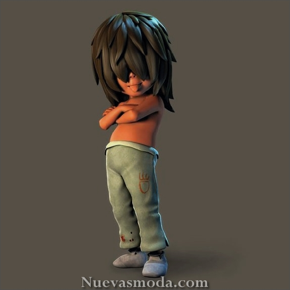 Beautiful 3D Cartoon Character