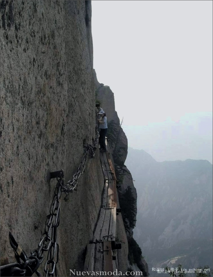 Huashan Mountain in China.