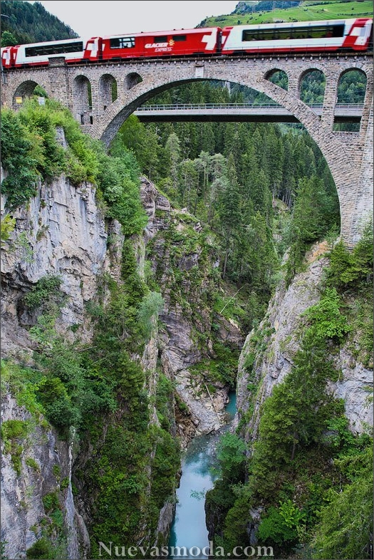 Spectacular view of trains Travel