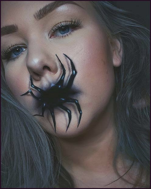 Scary Spider Mouth Illusion