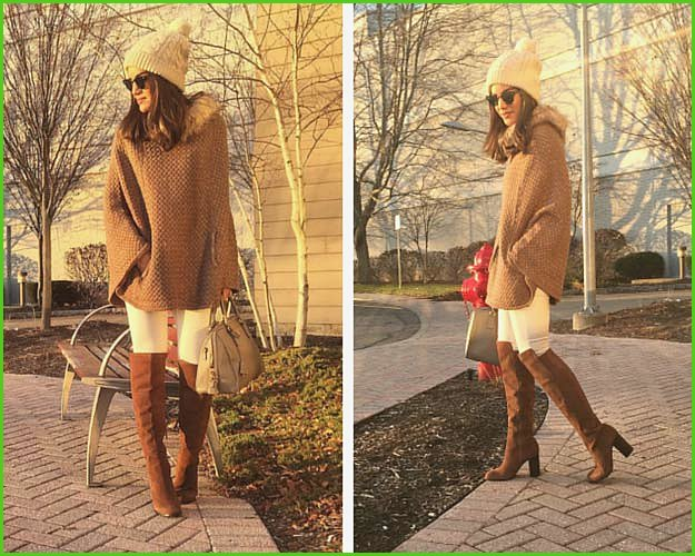 Cozy White and Brown Winter Outfit