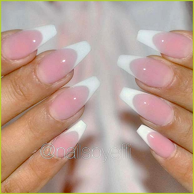 Classic French Tip Nails