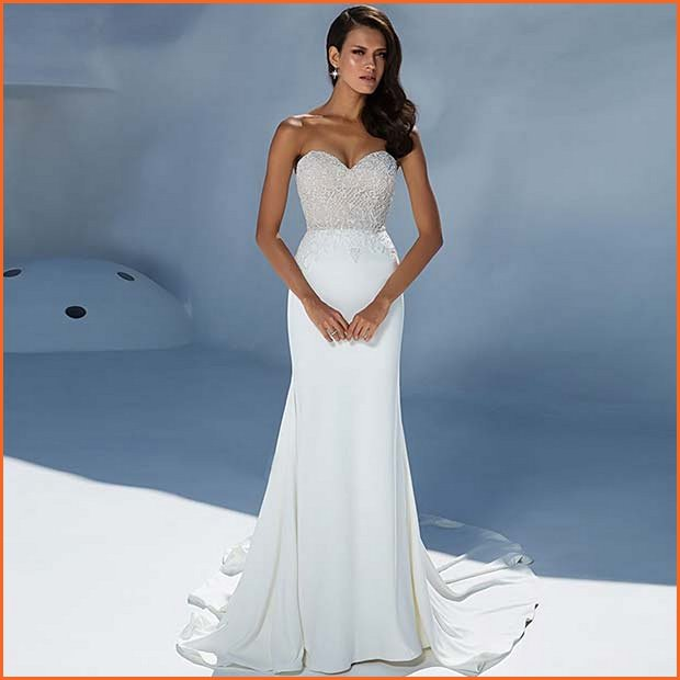 Simple and Sexy Wedding Dress