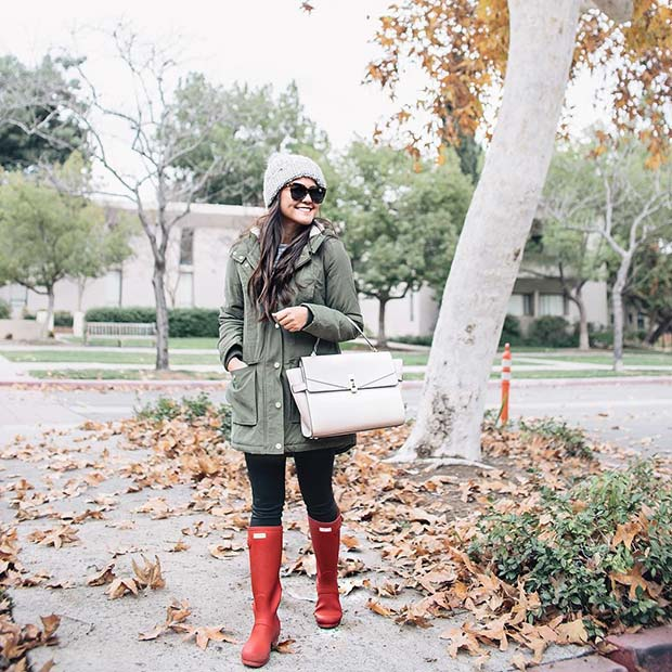 Vibrant Wellies for Cute Outfits to Copy This Winter