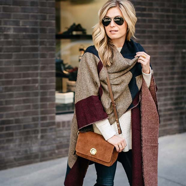 Winter Shawl Scarf for Cute Outfits to Copy This Winter