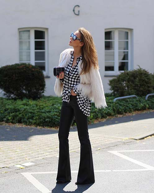 Flares and Faux Fur for Cute Outfits to Copy This Winter