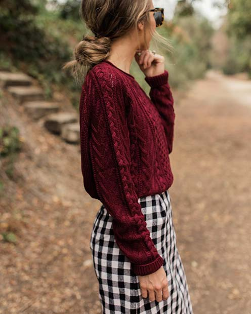 Cute Sweater and Skirt for Cute Outfits to Copy This Winter