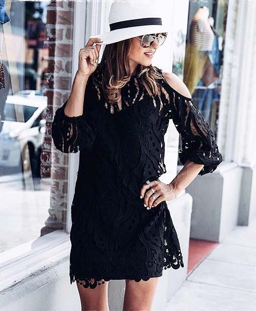 Cute Lace Dress for Cute Fall 2017 Outfit Ideas