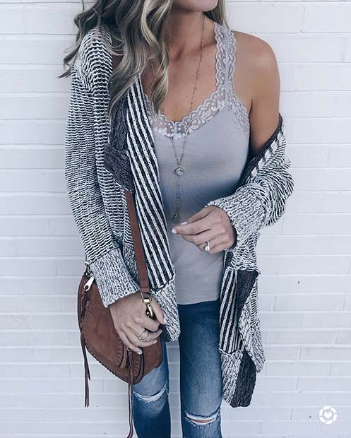Cute Cardigan for Cute Fall 2017 Outfit Ideas