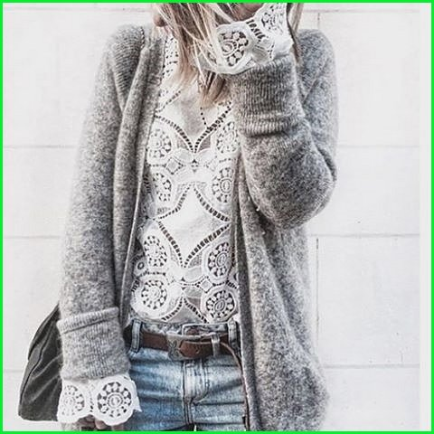 Casual Cardigan for Spring 2017 Women's Outfit Idea