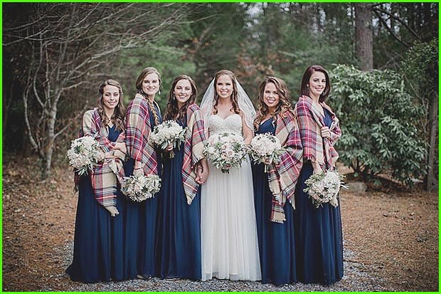 Winter Bridesmaids Flannel Cover Ups