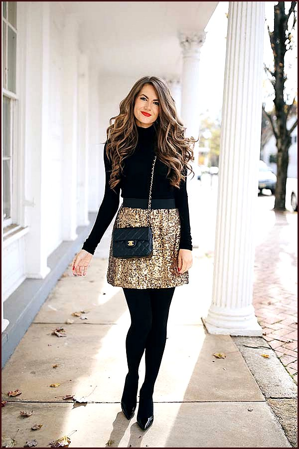 Black and Gold NYE Outfit