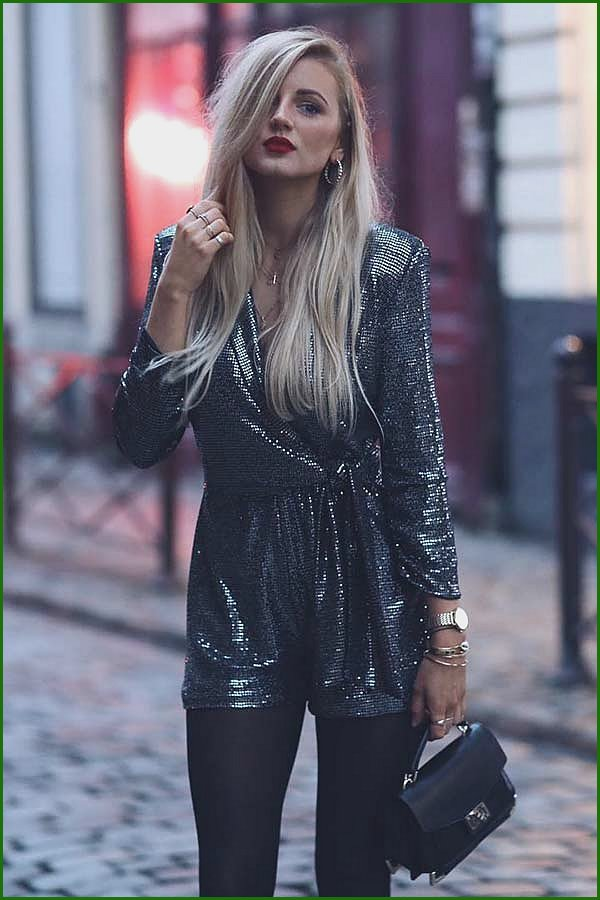 Sequin Playsuit NYE Outfit Idea
