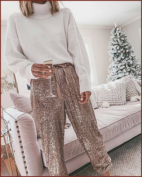Sparkly Trousers with a Sweater