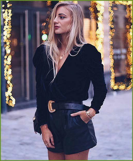 Faux Leather and Velvet Outfit Idea