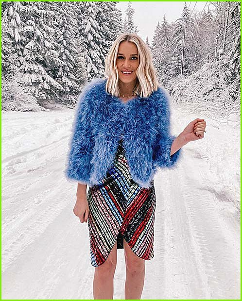 Bright Dress with a Bold Coat