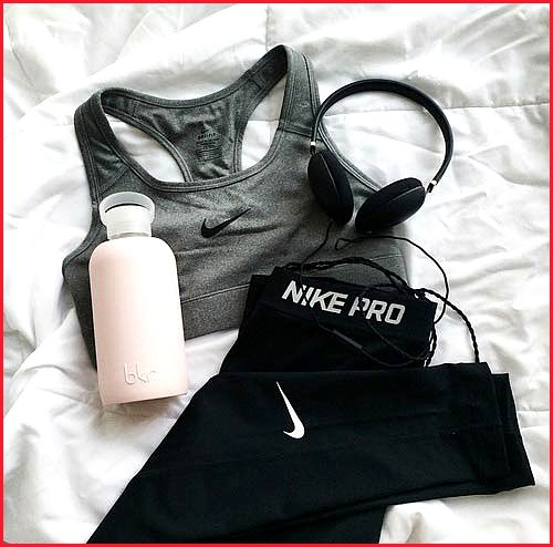 Grey Top Workout Outfit