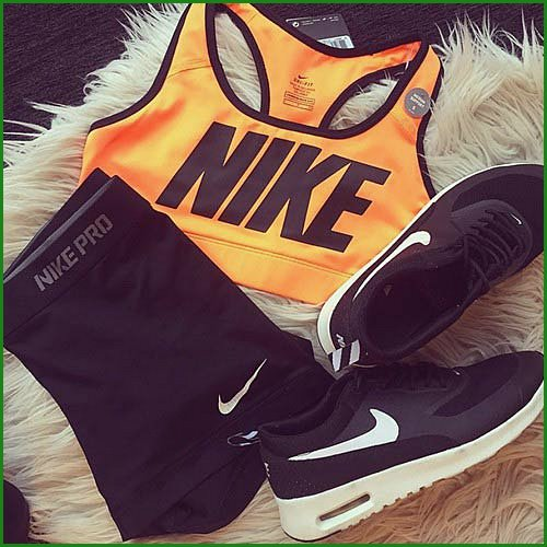 Black and Orange Workout Outfit