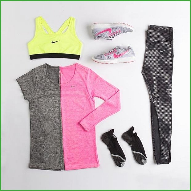 Pink and Grey Workout Outfit