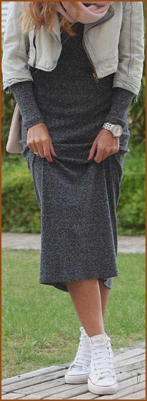 Maxi Dress Converse Sneakers Outfit