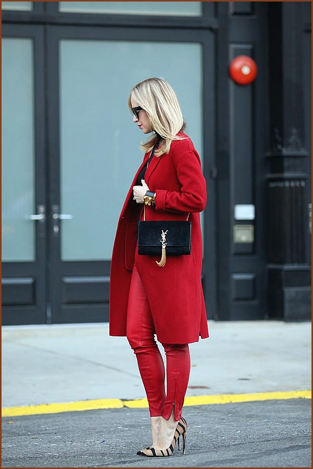 Red Leather Pants Outfit
