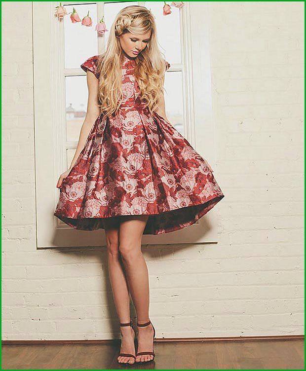 Floral Dress Outfit for Valentines Day