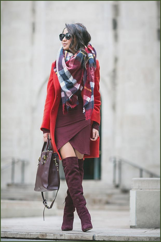 Burgundy and Red Outfit
