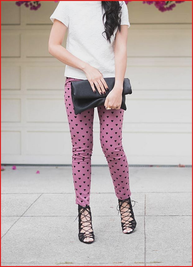 Heart Trousers Valentines Day Outfit