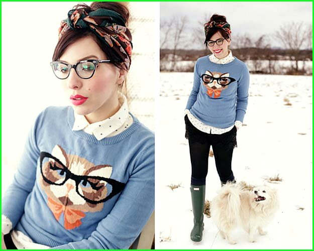 Kitty Sweater Winter Outfit
