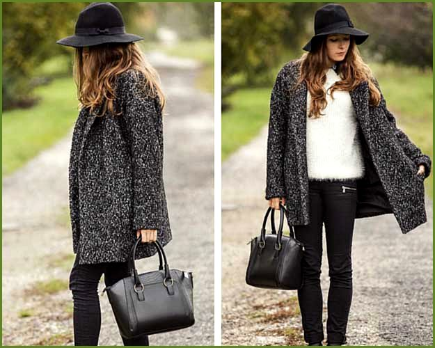 Furry Sweater and Oversized Coat Outfit