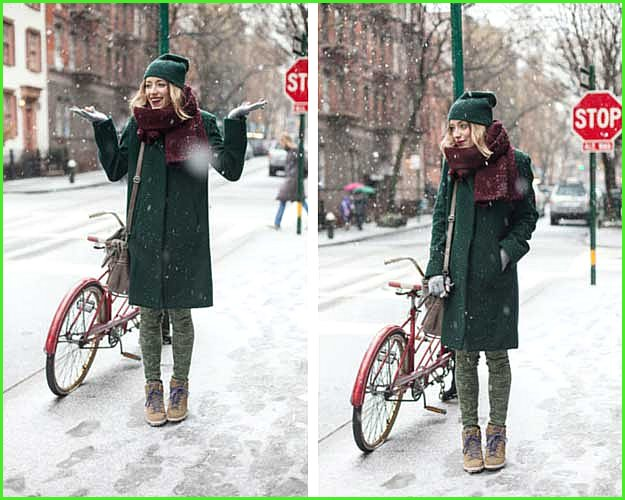 Winter Green Outfit