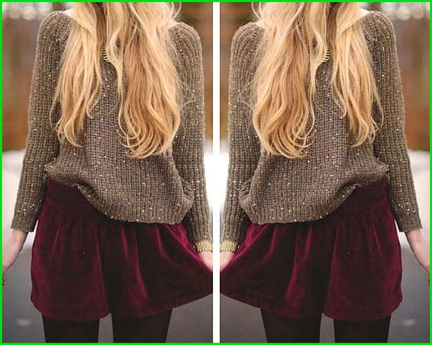 Sequin Burgundy Holiday Outfit