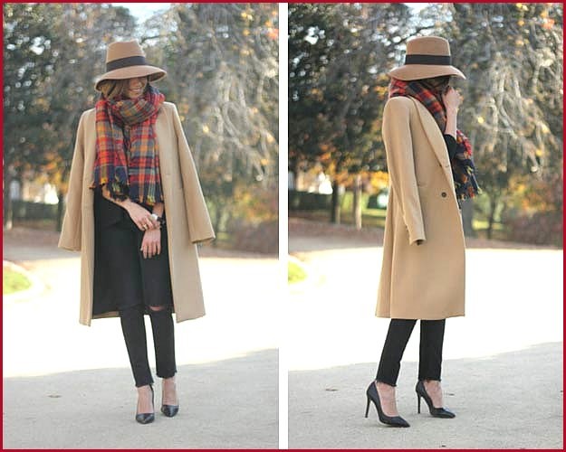 Camel Coat and Hat Winter Outfit