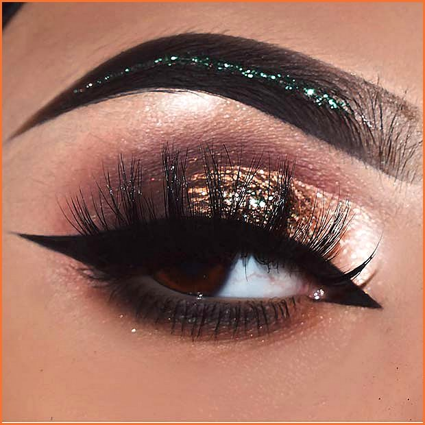 Glitter Eyes with Sparkly Eyebrows