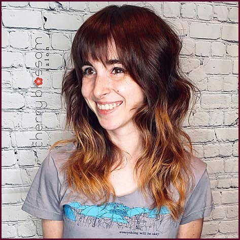 Stylish Ombre Shag Haircut
