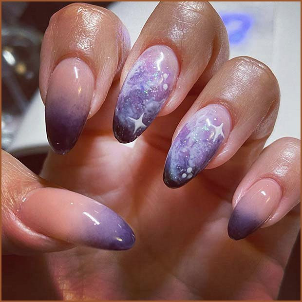 Out Of This World Ombre Nails