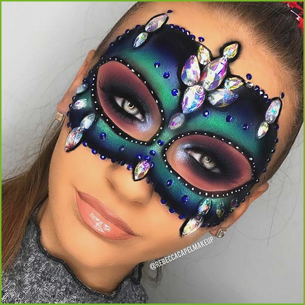Glitzy Makeup Mask for Halloween