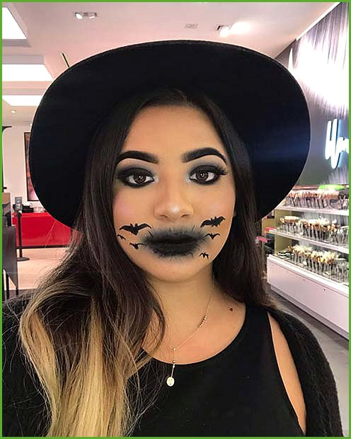Creepy Bat Makeup on the Lips