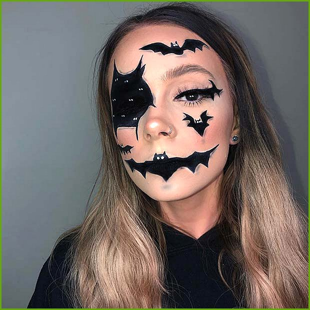 Bat Face Makeup