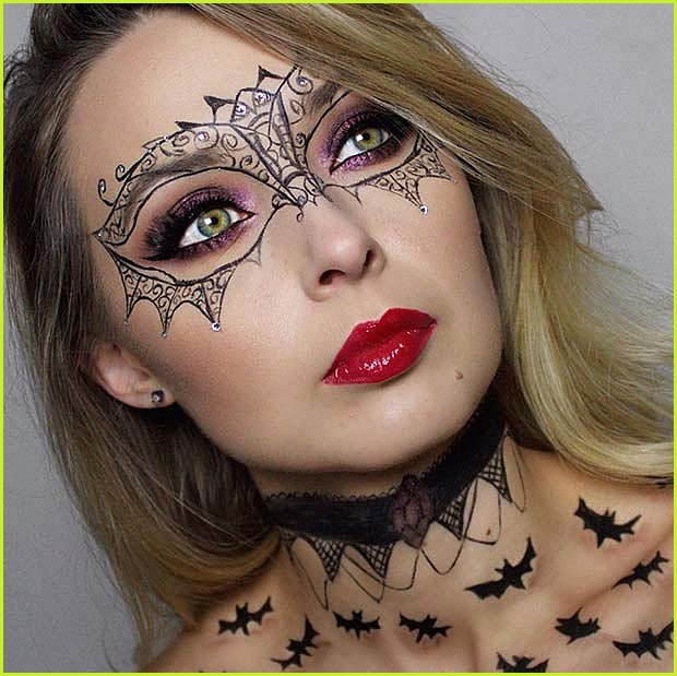 Bats And The Masquerade Makeup