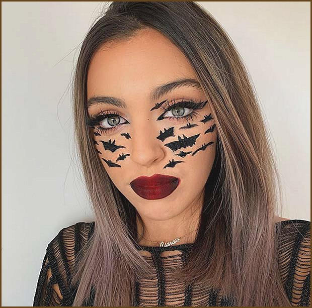 Glam Makeup with Bats