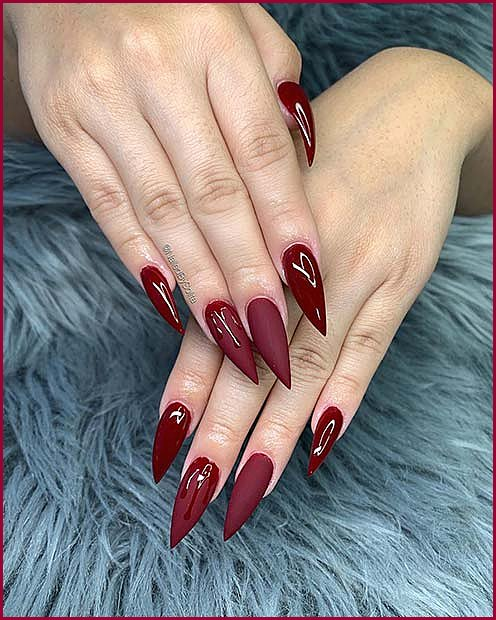 Stiletto Nails with Drips