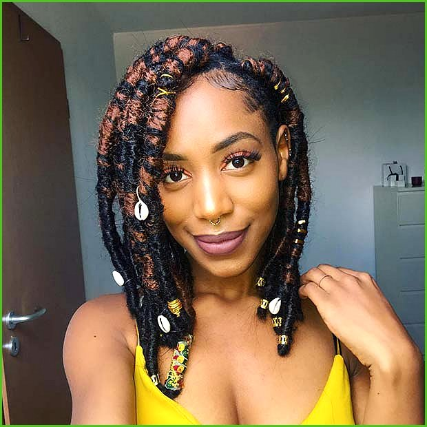 Chunky Faux Locs with Shells