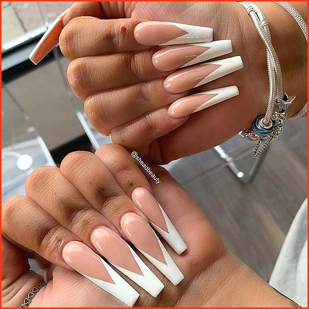 Long Nails with V Tips
