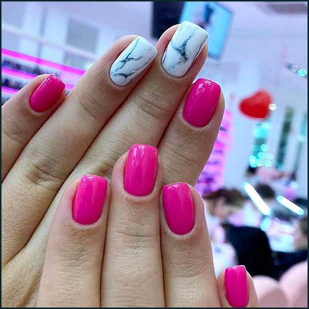 Neon Pink and Marble