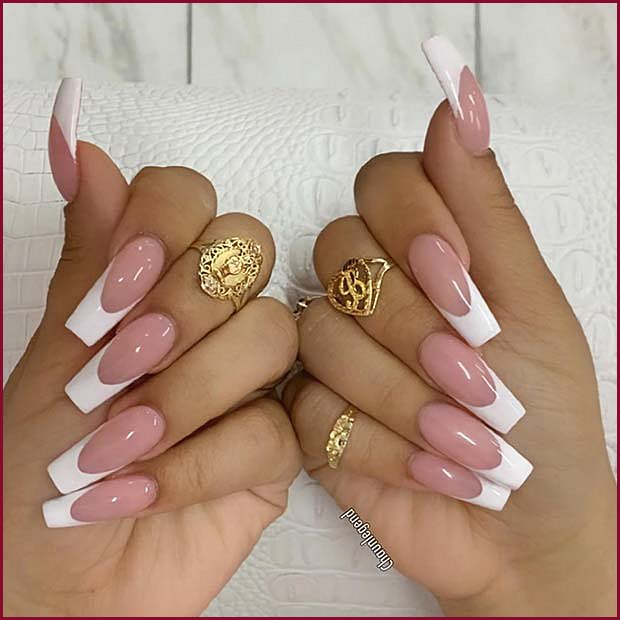 Nude Nails with White Tips