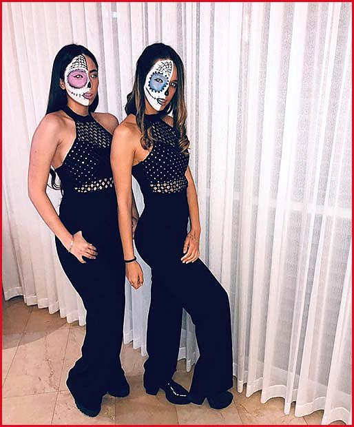 Matching Sugar Skull Makeup Looks for BFFs