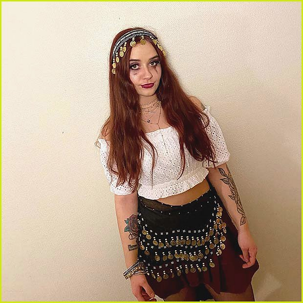 Gypsy Halloween Costume with Gold Coins