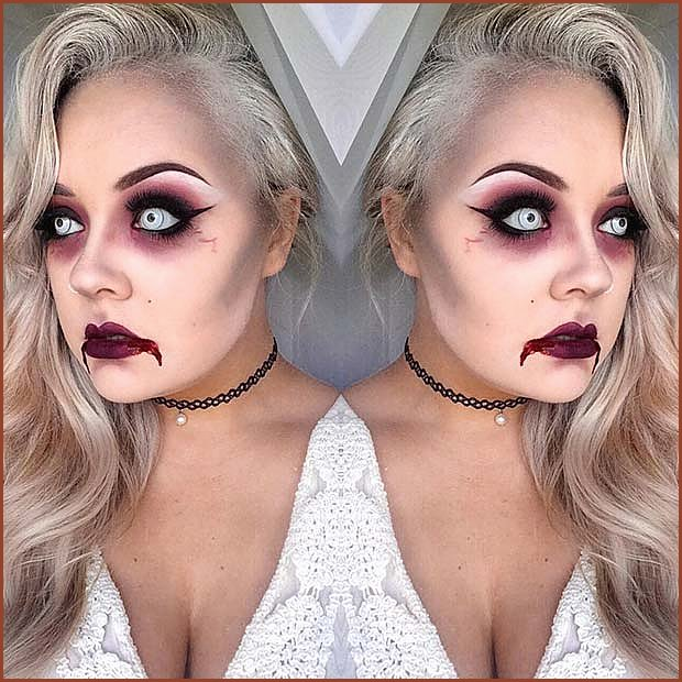 Glam and Scary Makeup for Halloween
