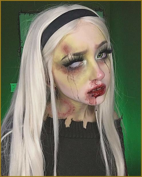 Zombie Makeup with a Bite